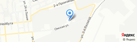 Орто на карте Омска
