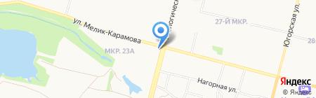 Северстрой на карте Сургута