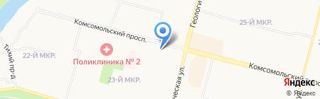 Сургутская Церковь христиан веры евангельской пятидесятников на карте Сургута