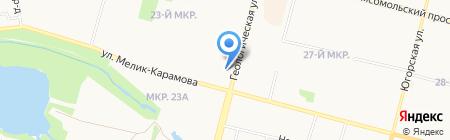 Продуктовый Рай на карте Сургута