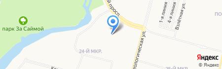 Максим на карте Сургута