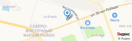 Банкомат АКБ Росбанк на карте Сургута