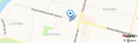 Наследие АНО на карте Сургута