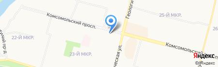 Донна Пицца на карте Сургута