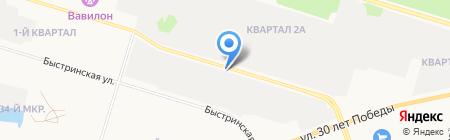 Автоимпульс на карте Сургута