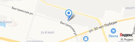 Северо-Восточный на карте Сургута