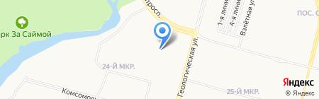 Регион на карте Сургута