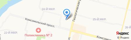 Шарм на карте Сургута