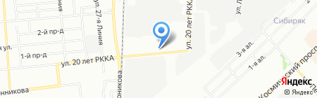 Омас на карте Омска