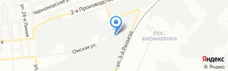 Промэко на карте Омска