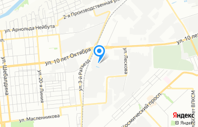 Местоположение на карте пункта техосмотра по адресу г Омск, ул 10 лет Октября, д 180