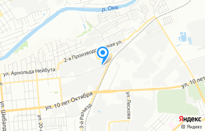 Местоположение на карте пункта техосмотра по адресу г Омск, ул Омская, д 225