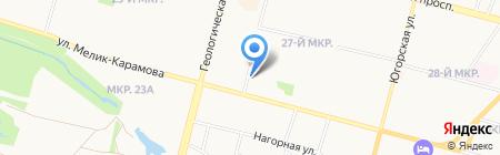 Эдельвейс на карте Сургута