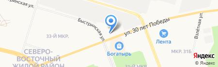 Сургутстройтрест на карте Сургута