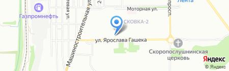 Брег на карте Омска