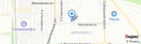 Сияние на карте Омска