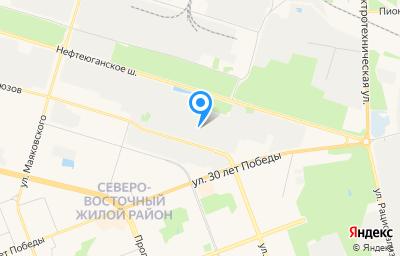 Местоположение на карте пункта техосмотра по адресу Ханты-Мансийский Автономный округ - Югра АО, г Сургут, ш Нефтеюганское, д 6