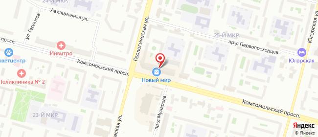 Карта расположения пункта доставки Westfalika в городе Сургут