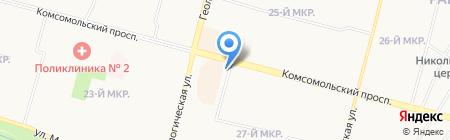 Мир цветов на карте Сургута