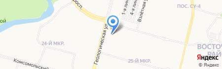 Саопин на карте Сургута