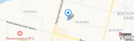 Мясная ярмарка на карте Сургута