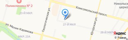 Икорный дом Сургут на карте Сургута