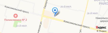 Киоск по продаже цветов на карте Сургута