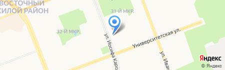 Окна Сургута на карте Сургута