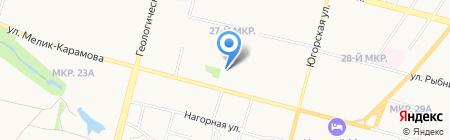 Любимый след на карте Сургута