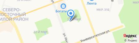 Средняя общеобразовательная школа №31 на карте Сургута