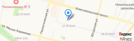 Начальная общеобразовательная школа №35 на карте Сургута