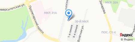 Счастливый малыш на карте Сургута