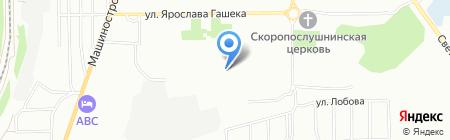 Средняя общеобразовательная школа №99 с углубленным изучением отдельных предметов на карте Омска