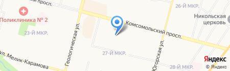 Солнышко на карте Сургута