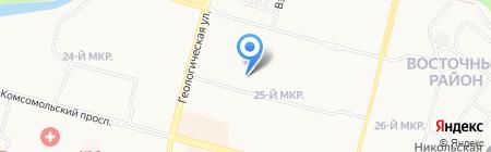 Средняя общеобразовательная школа №13 на карте Сургута