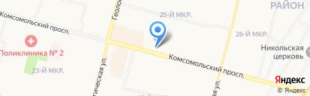Роспечать на карте Сургута