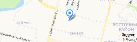 Средняя общеобразовательная школа №38 на карте Сургута