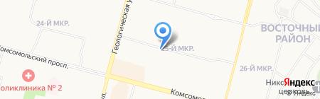 Любимый Трикотаж на карте Сургута