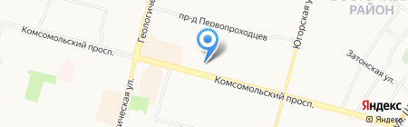 Интерсервис на карте Сургута