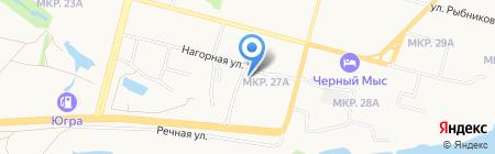 Суперлига на карте Сургута