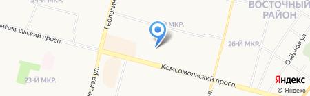 Станция юных техников на карте Сургута