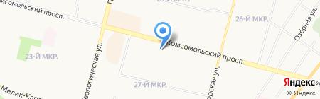Парикмахерская на Комсомольском проспекте на карте Сургута