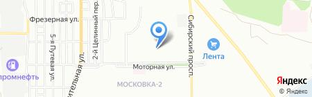 Детский сад №349 на карте Омска