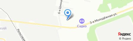 Березка на карте Омска