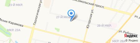 Средняя общеобразовательная школа №45 на карте Сургута