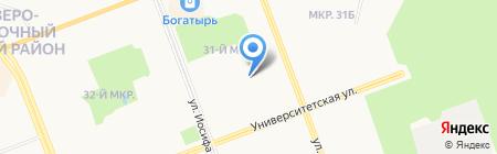 Детский сад №34 на карте Сургута