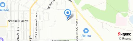 Средняя общеобразовательная школа №107 на карте Омска
