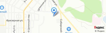 Магазин цветов и сувениров на Сибирском проспекте на карте Омска