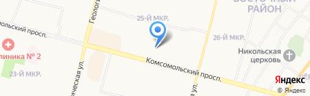 Сеть аптек на карте Сургута