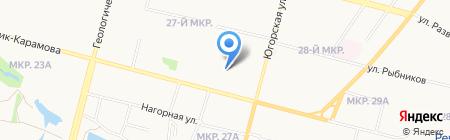 СургутВетСервис на карте Сургута